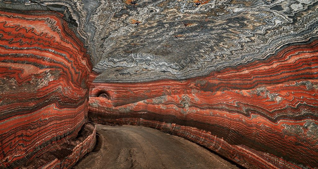 Smuk underjordisk mine i Uralkali, Rusland