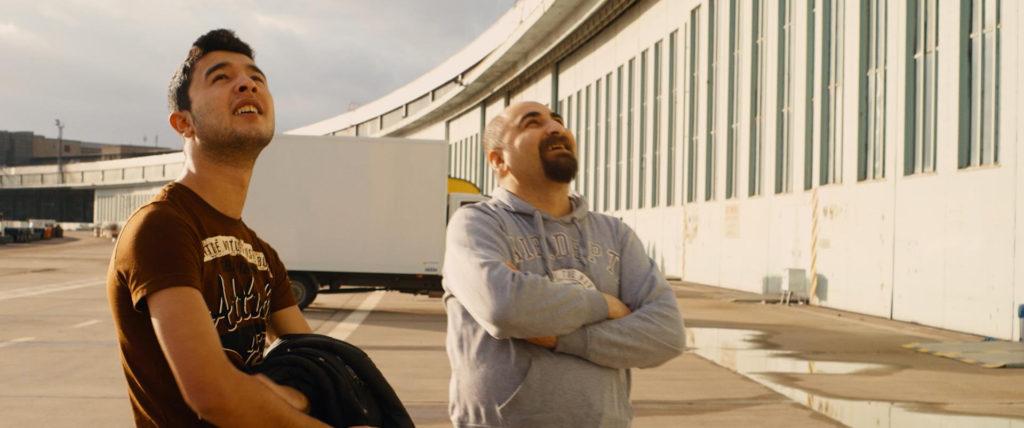 Ibrahim og Quitaiba i solskinnet
